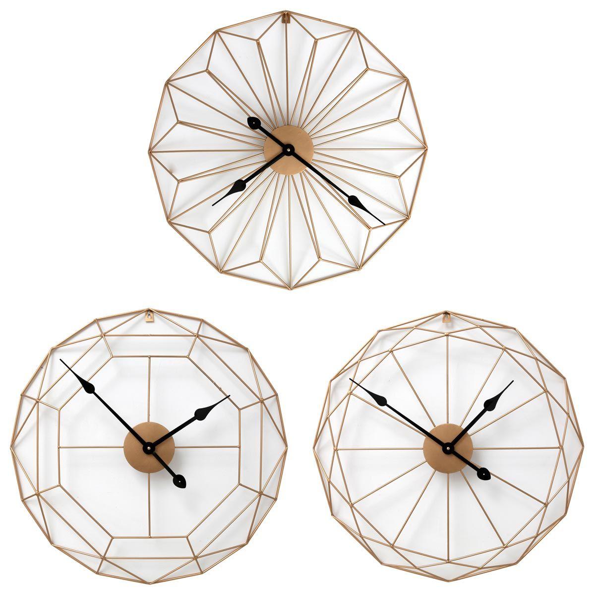 Horloge filaire doré