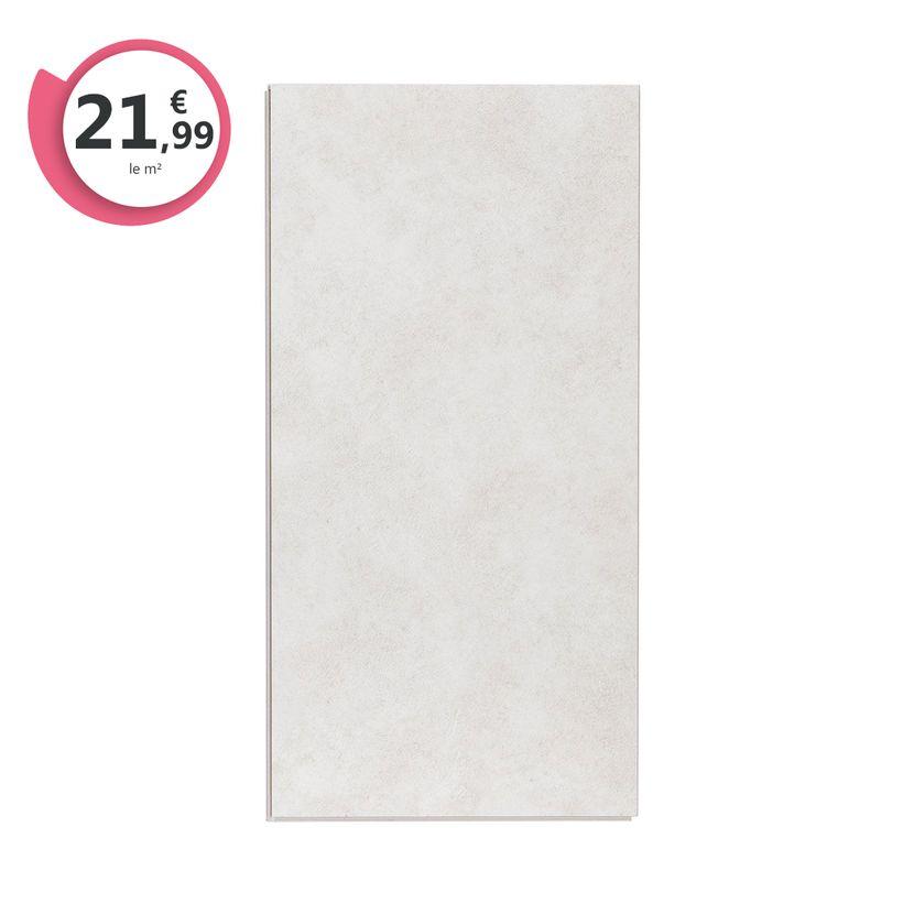 Dalle PVC clipsable béton écru 5,5mm Novaria