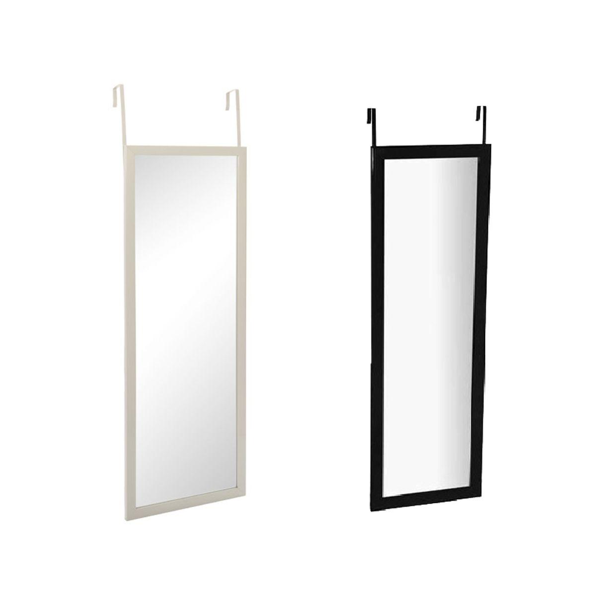 Miroir de porte blanc noir ou taupe