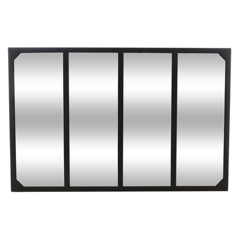 Miroir atelier noir 4 bandes