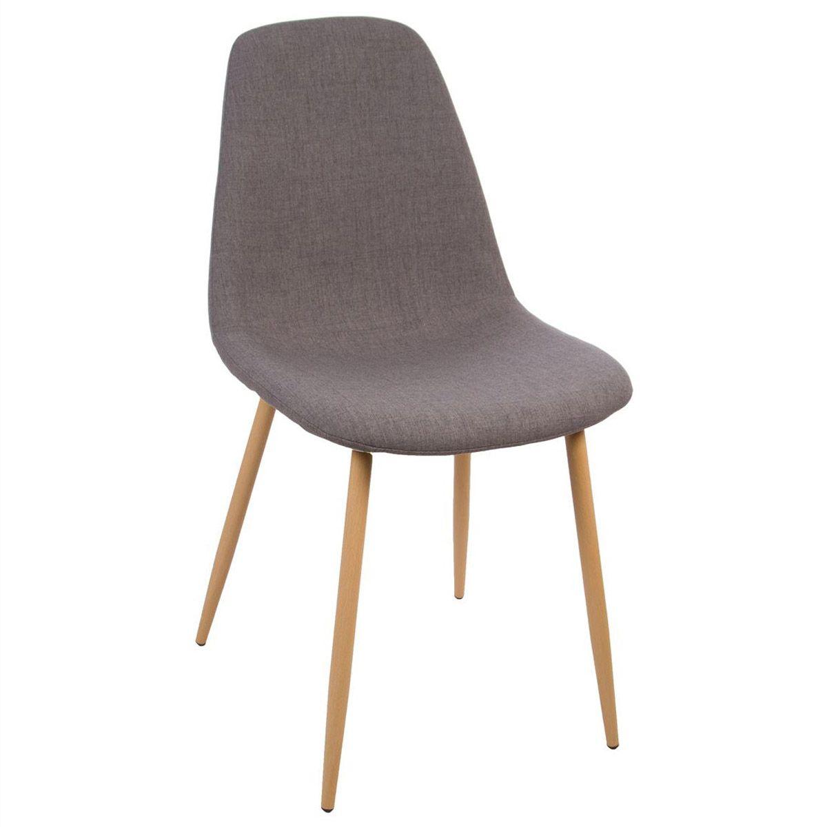 Chaise gris foncé scandinave Roka