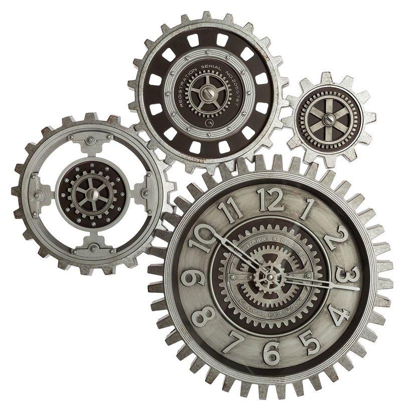 Horloge mécanique grise