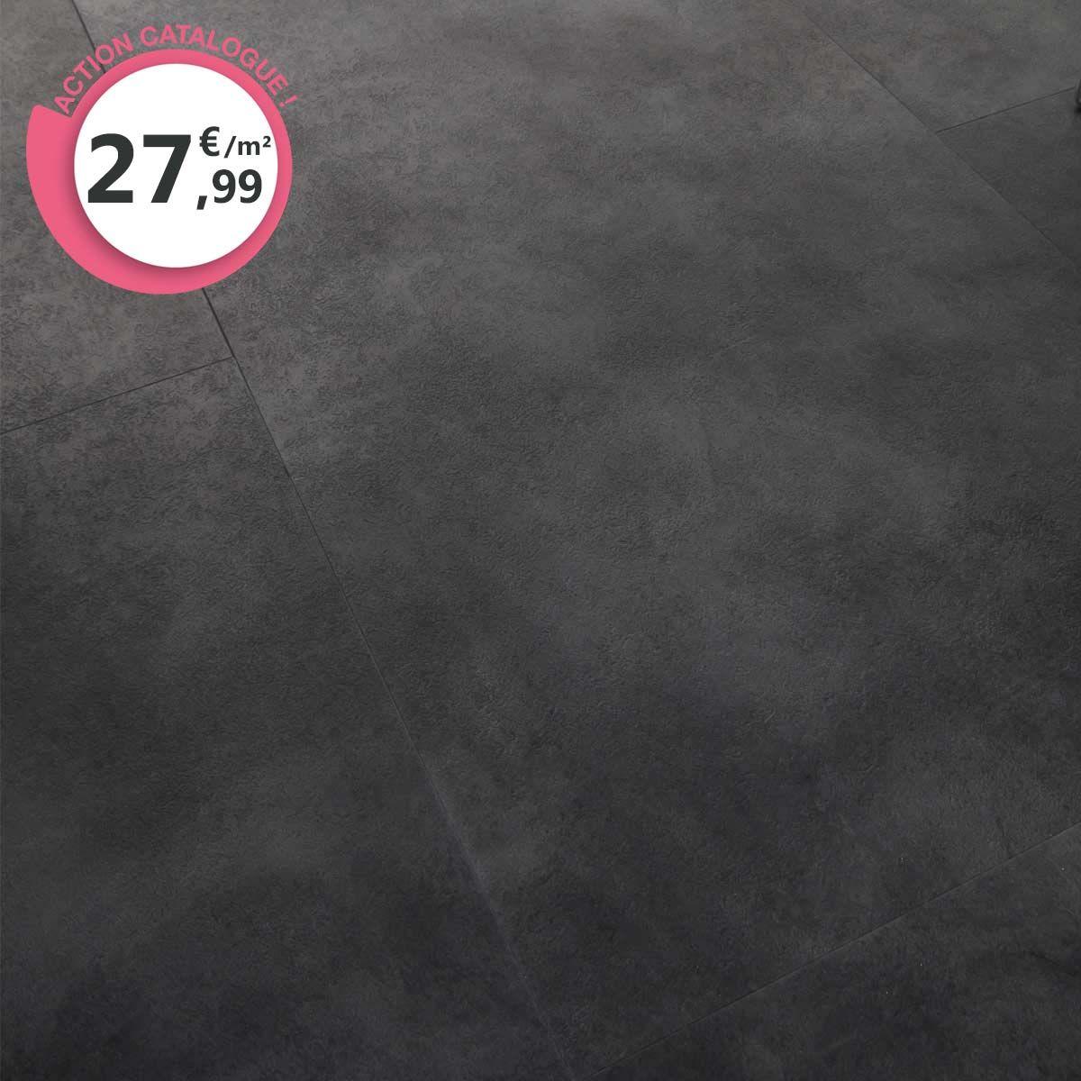 Dalle PVC XXL clipsable gris anthracite 6,5mm Vittoria