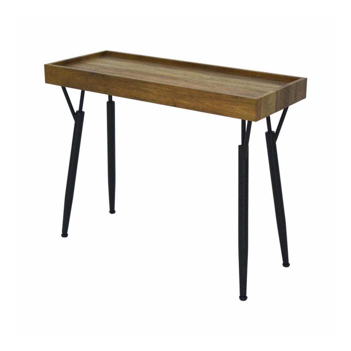 Console industrielle en bois et métal Ida