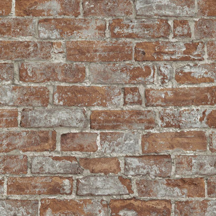 Papier peint vinyl intissé brique terracotta Cloverbrick