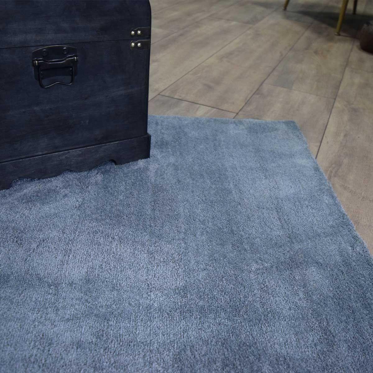 Tapis velours ras gris souris Cosy 160x230 cm