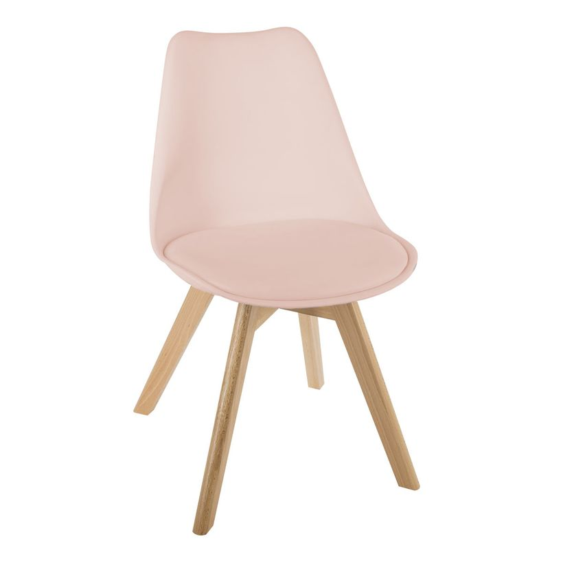 Chaise scandinave rose Baya