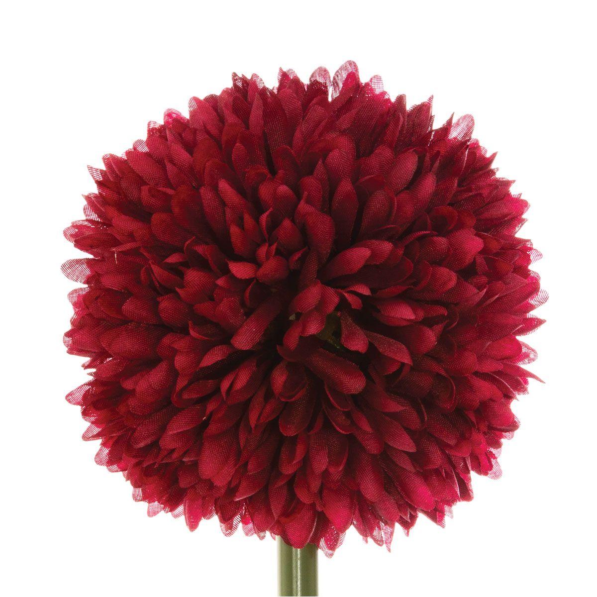 Tige de fleur artificielle pompon H. 60 cm