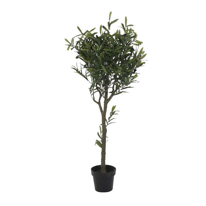 Arbuste artificiel olivier en pot H. 142 cm