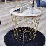 Table basse dorée Maxa