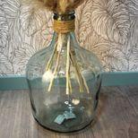 Vase dame jeanne avec détail raphia D. 27 cm