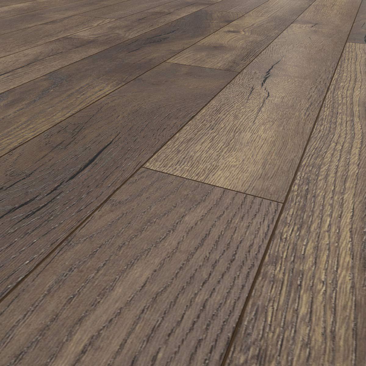 Parquet stratifié chêne rustique foncé 10mm Montmagny