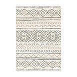 Tapis motif berbère terracotta Ethnic