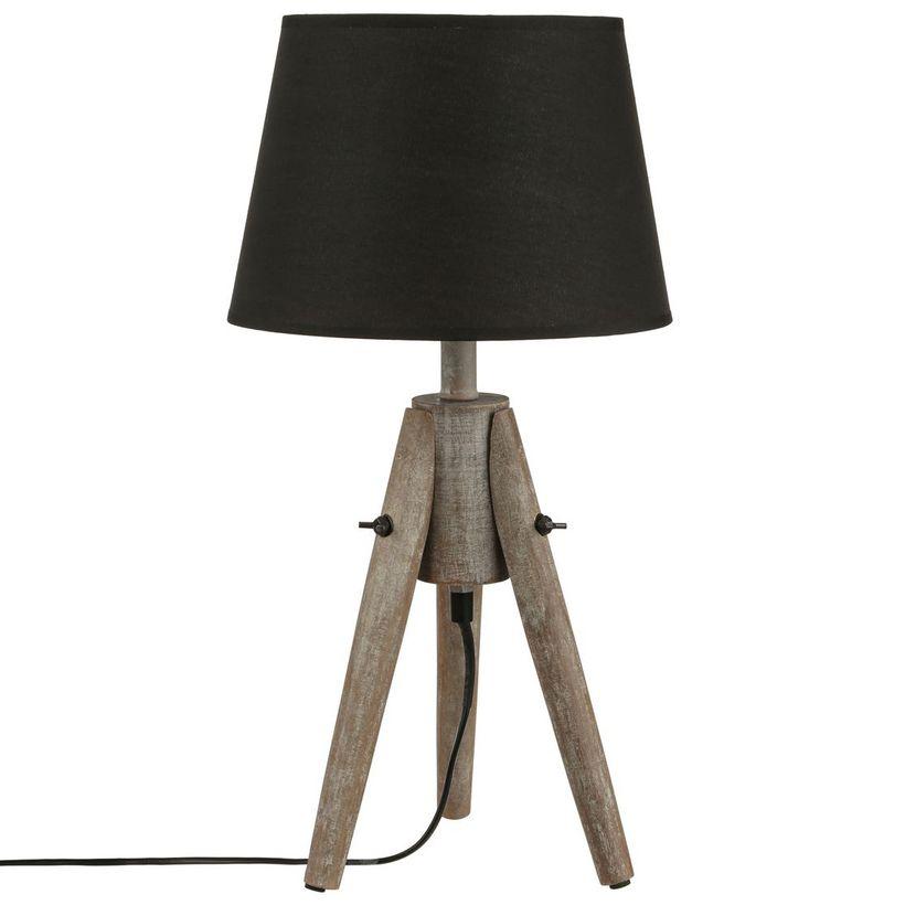 Lampe trépied gris