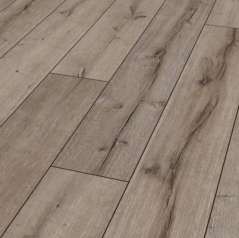 Parquet stratifié chêne brun cérusé 12mm Toronto