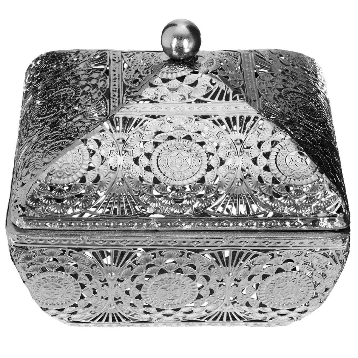Boîte à bijoux métal