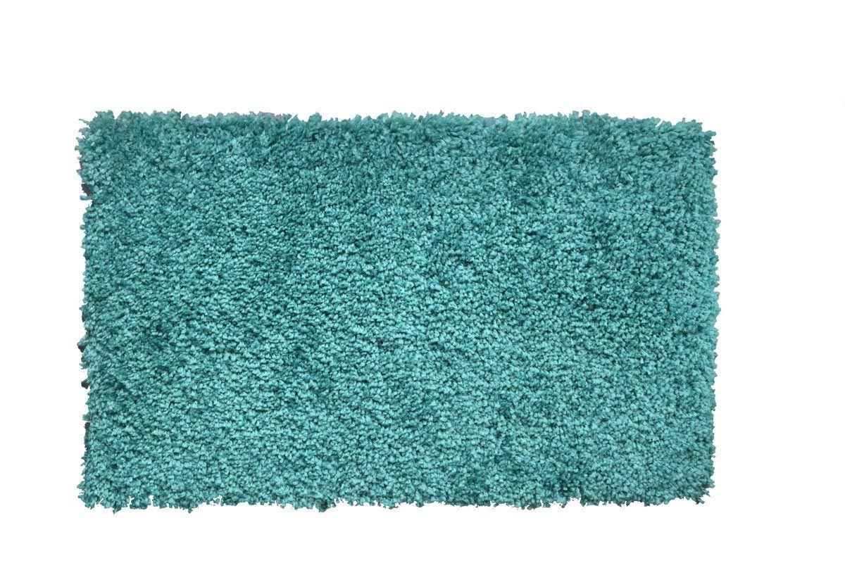 Tapis shaggy bleu caraibe Softy 120x170 cm