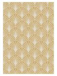 Tapis moderne eventail or Maoke 120x170 cm