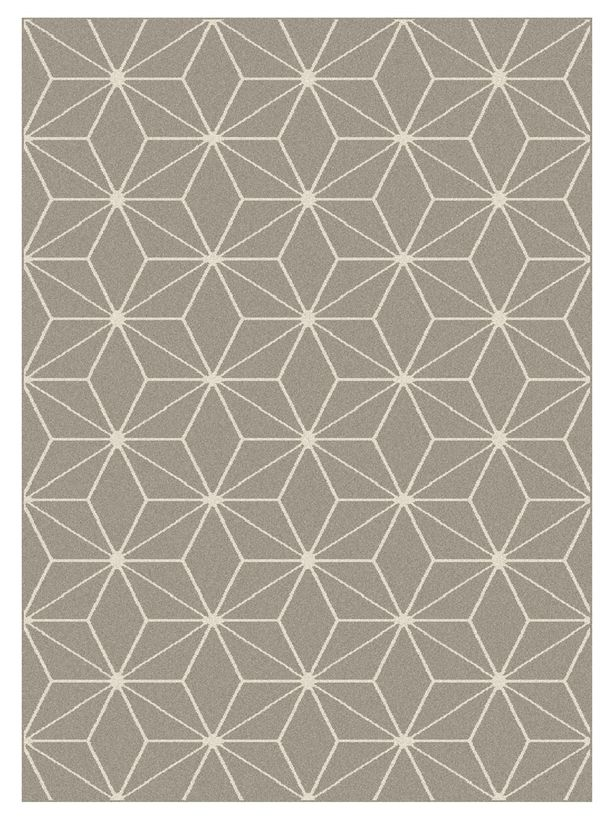 Tapis moderne cubic gris Maoke 160x230 cm