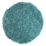 Tapis rond shaggy bleu caraibe Softy 60 cm