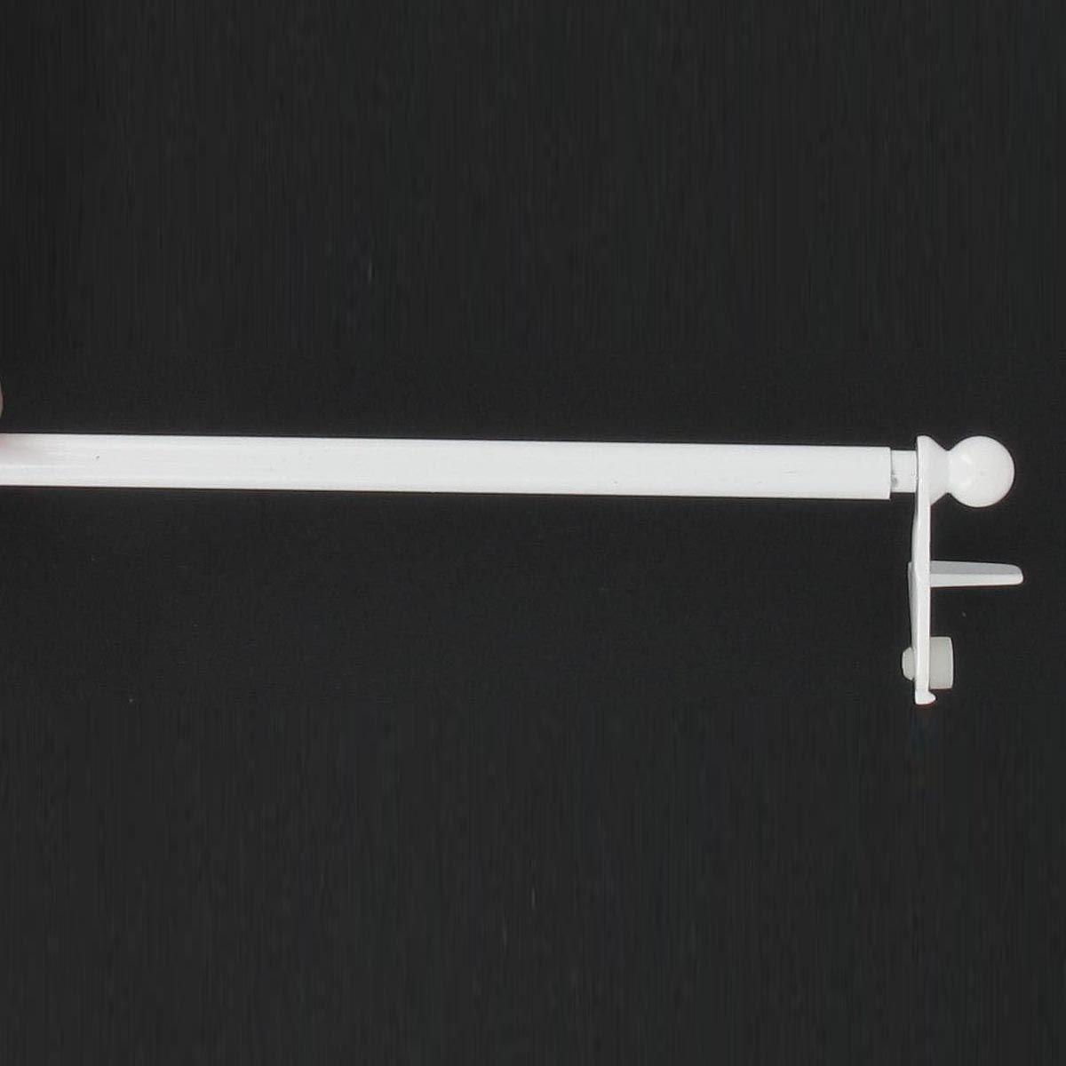 Barre vitrage extensible sans percer blanc 30/50 cm