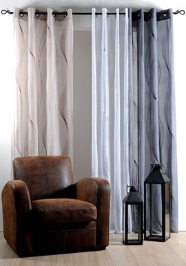 rideau gris anthracite alata 135x240 cm kalico. Black Bedroom Furniture Sets. Home Design Ideas