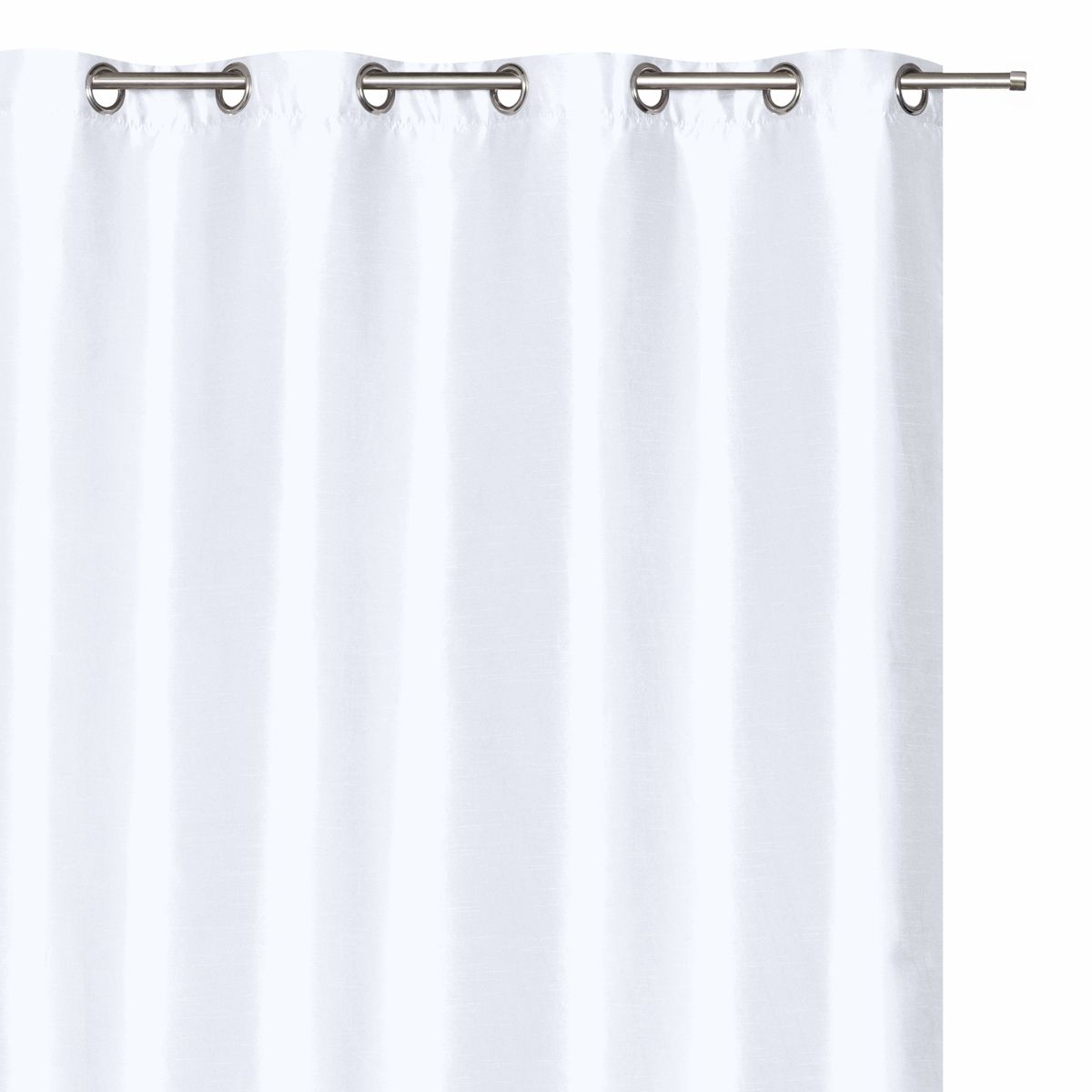 Rideau effet soie blanc Torreon 140x240 cm