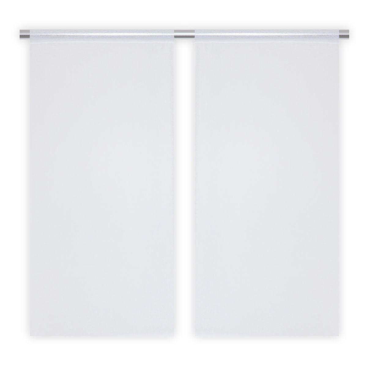 Vitrage Tepic blanc par 2 060x120cm