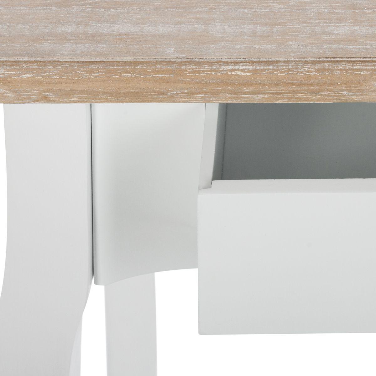 Console en bois blanc Chrysa