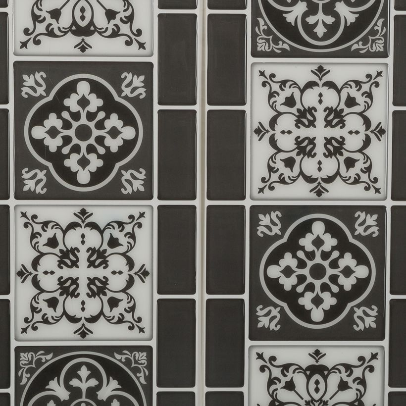 Sticker frise arabesque noir
