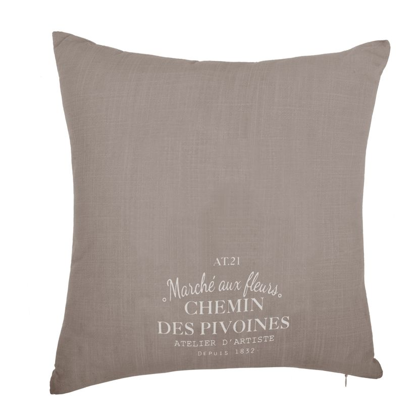 Coussin Hirondelle taupe 40x40cm