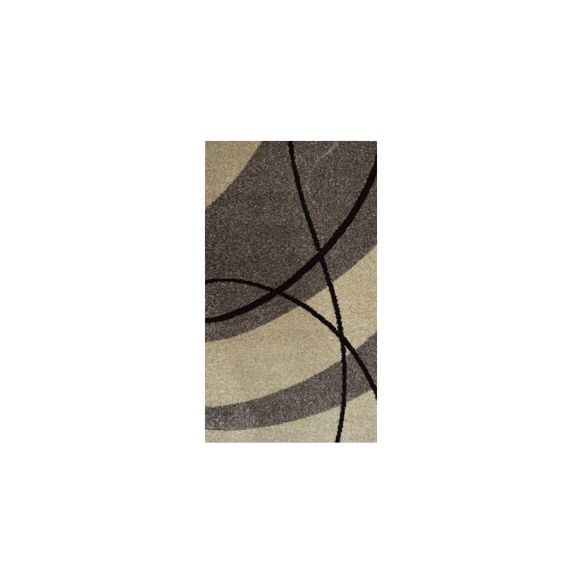 Tapis moderne vague grise Maoke 120x170 cm