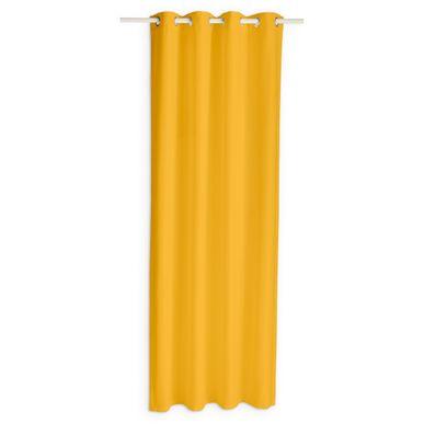 rideau jaune moutarde occultant et isolant buga 140x240cm. Black Bedroom Furniture Sets. Home Design Ideas