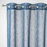 Rideau effet lin bleu paon Caraz 140x240 cm