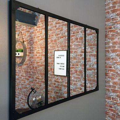 Miroir Atelier Noir Déco Tendance Kalico