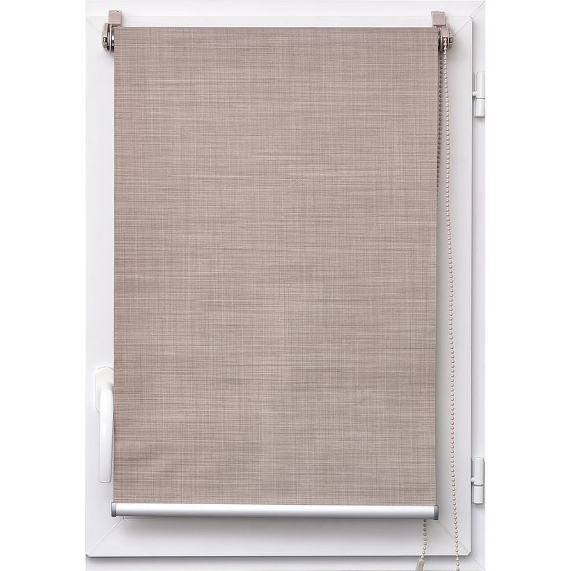 Store tamisant effet lin taupe Tao 90x180cm