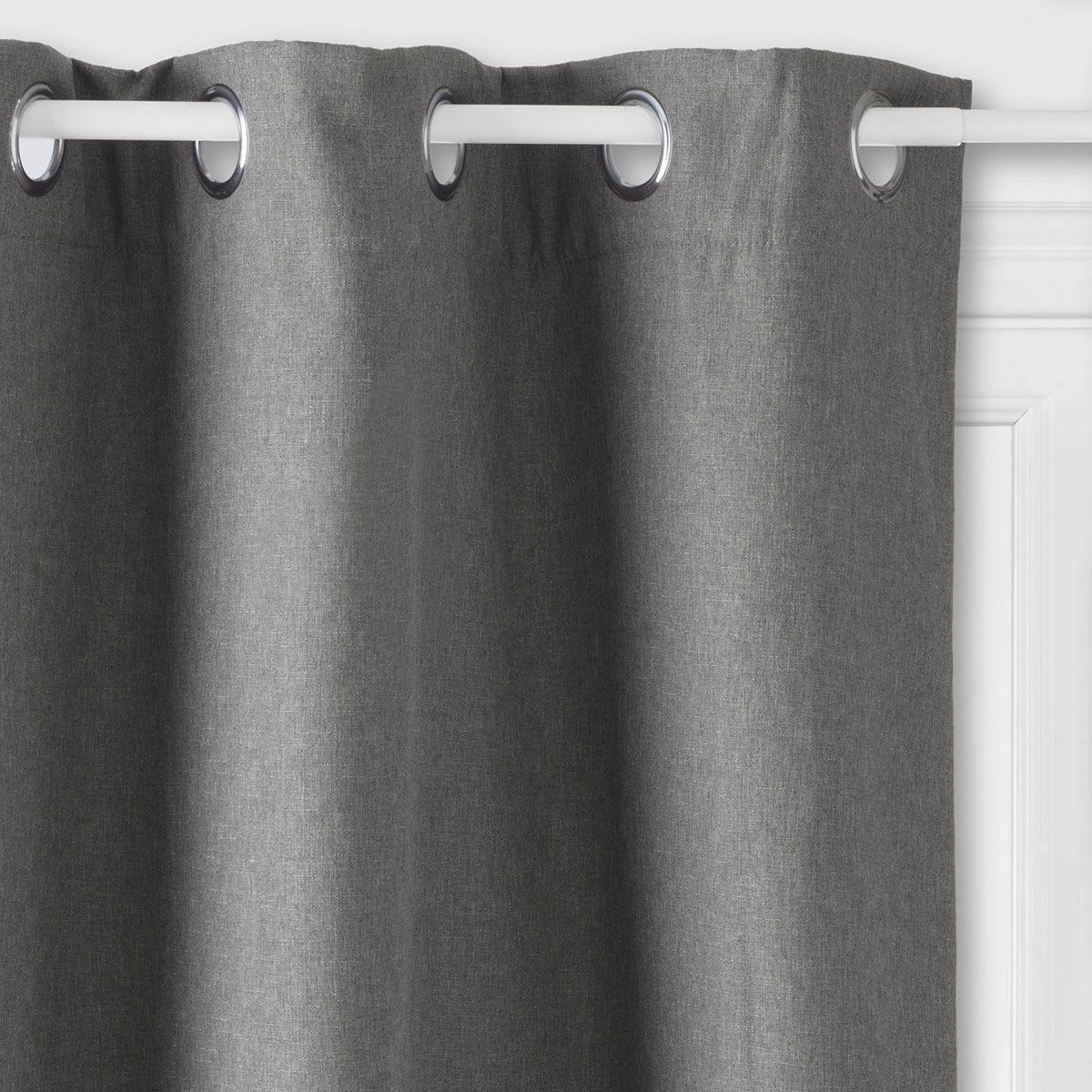 rideau isolant thermique et phonique gris rideau pas cher kalico