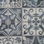 Sticker carrelage grands carrés bleus