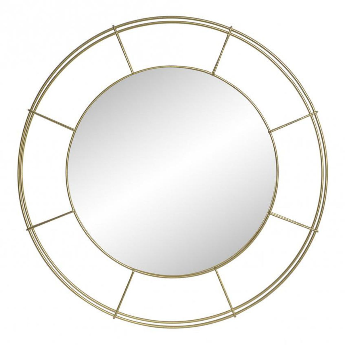 Miroir empire hublot dore