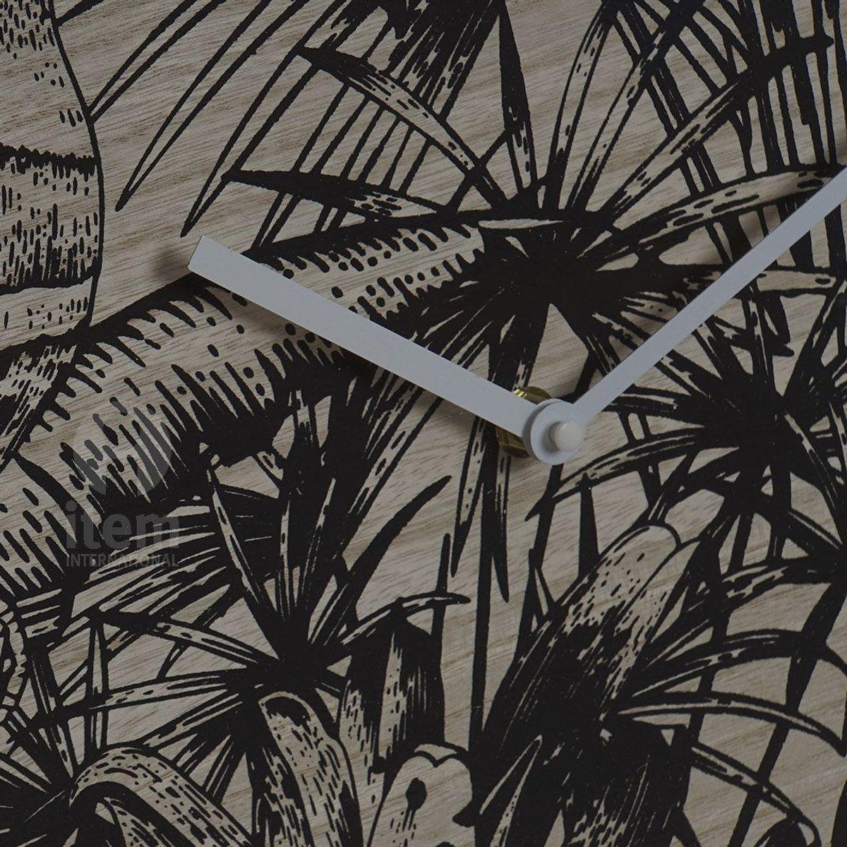 Pendule imprimé tropical